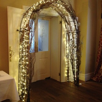 Wedding Arch With Lights Amp Flowers Everything Covered