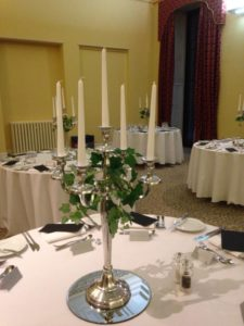 Candelabra with ivy Leigh Court