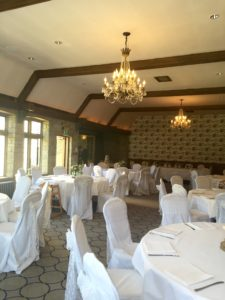 Castle Combe Manor House white organza & lace