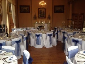Orchardleigh House navy sashes