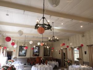 Paper lanterns & fairy lights Hare & Hounds