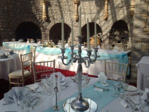 Tortworth Court candelabras, runners & swagging