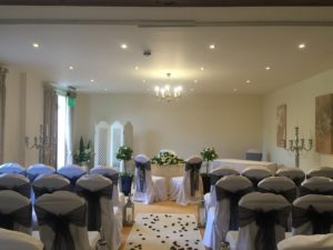 Alveston House Hotel ceremony black sashes