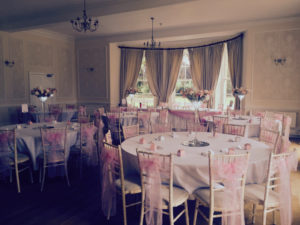Chair sashes & table swagging Eastington Park