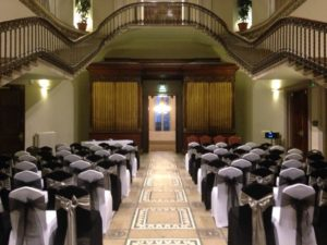 Black & white chair covers, Leigh Court