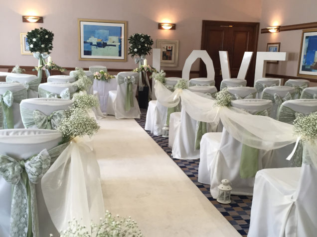 Wedding venue styling chair covers bristol bath gloucestershire venue styling decorations junglespirit Images